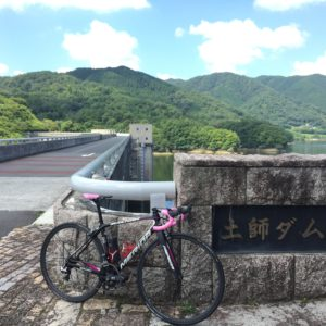 土師ダムと自転車